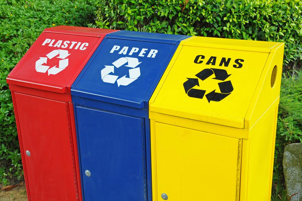 community recycle bins