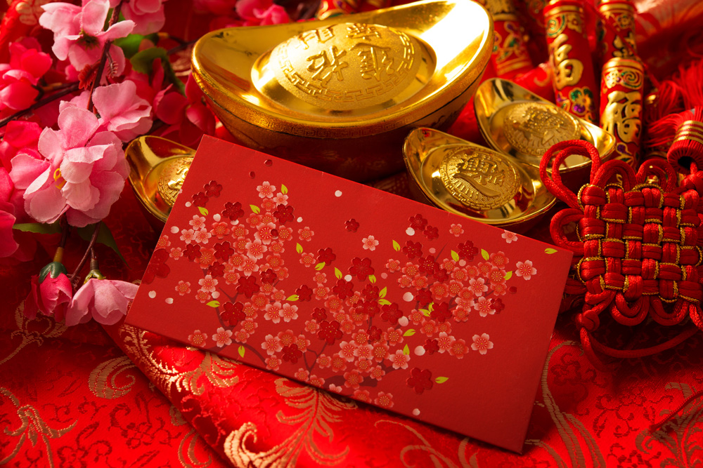 The color red brings good fortune for Lunar New Year