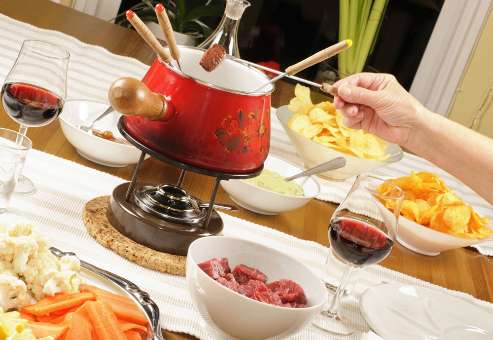 Fondue is a good theme for a block party